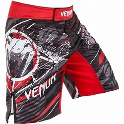 Fightshort Venum All Flags Black Red 1