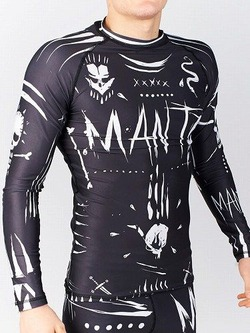 long sleeve rashguard VOODOO black 1