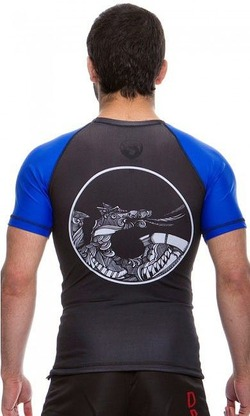 Rash Guard Maori blue3