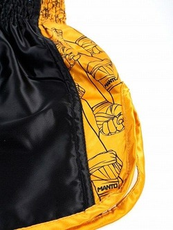 fightshorts MUAY THAI FISTS blackyellow3