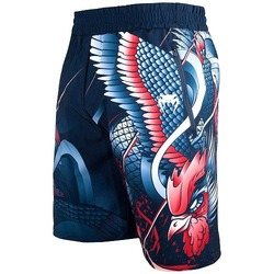 Rooster Fitness Shorts navy orange 1