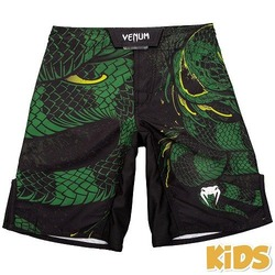 Green Viper Fightshorts Kids BlackGreen 1