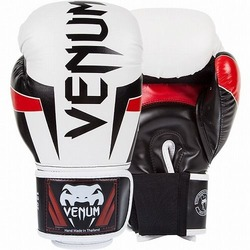 Glove Elite Wt Bk Red1