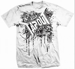 tapout mens knocked out t shirt white