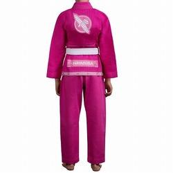 Gold Weave Youth Jiu Jitsu Gi pink 2