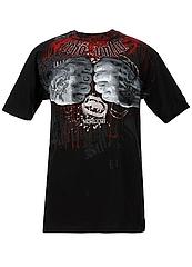 ECKO UNLTD Tシャツ FISTACUFFS 黒 フロント