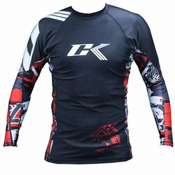 Collage Rashguard Long Red 1