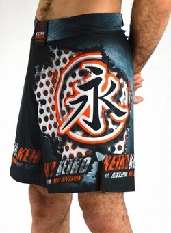 Shorts Iron Fighter BK RED3