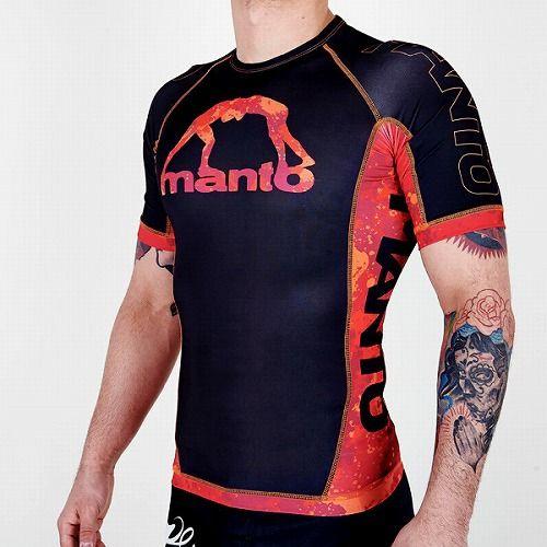 short sleeve rashguard LAVA black3