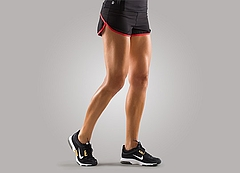 Pump Shorts_BLKRED_Ladys_Front
