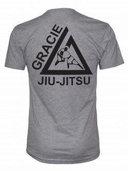 Gracie University tee gray2