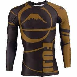 IBJJF Ranked Long Sleeve Rashguards brown 1