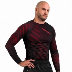 Metaru Rash Guard LS red1