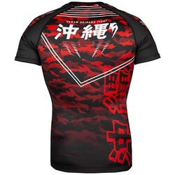 Okinawa 20 Rashguard ss blackwhitered4