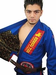 Bull Terrier Jiu-jitsu Gi Super Star Blue
