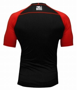 Compression Top S-S  Black-Red 2