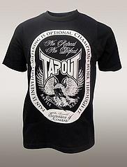 TAPOUT Tシャツ No Retreat 黒