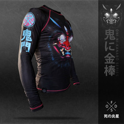 鬼門 The demon gate RASHGUARD 1