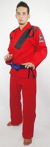 ブルテリア 柔術衣 フレア 赤