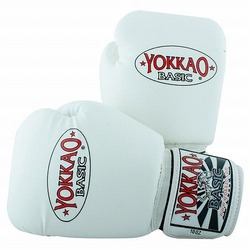 Basic White Muay Thai Boxing Gloves1