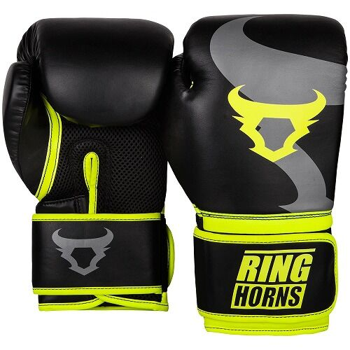 Ringhorns Charger Boxing Gloves Black Neo Yellow2