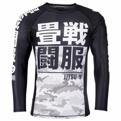 Essential Camo Long Sleeve Rash Guard white 1