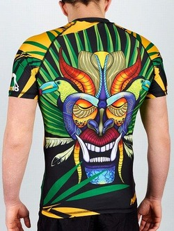 rashguard short sleeve BORUCA black 1