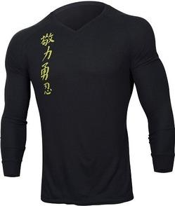 jaco kanji 2 v-neck thermal black