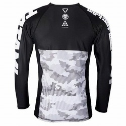 Essential Camo Long Sleeve Rash Guard white 3