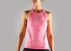 Step Mesh Tanktop Ladys Pink Front