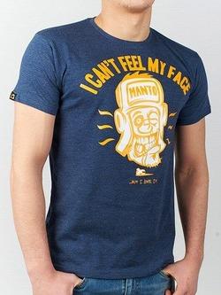 t-shirt FACE denim blue 1