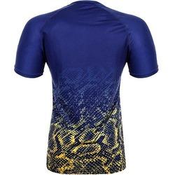 Tropical Tshirt Dry Tech BlueYellow 4