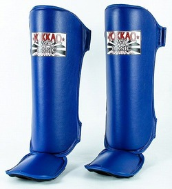 YOKKAO Blue BASIC Shin Guards 2