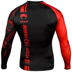 Logos Rashguard ls blackred4