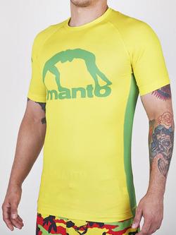 MANTO short sleeve rashguard LOGO yellow 1