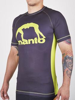 MANTO short sleeve rashguard LOGO black green 1