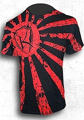 T-Shirt-Rising Sun Black1