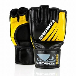 Training Series Impact MMA Gloves  Without Thumb blackyellow1