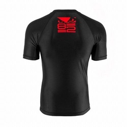 Origin Rash Guard Short Sleeves blackred3