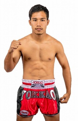 YOKKAO Red Carbon Muay Thai Shorts 2