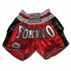 YOKKAO Red Carbon Muay Thai Shorts 1