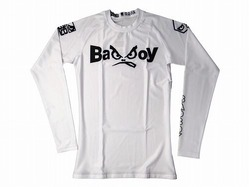 Retro Rash Guard white 1