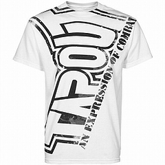 TAPOUT Tシャツ Hardcore 白