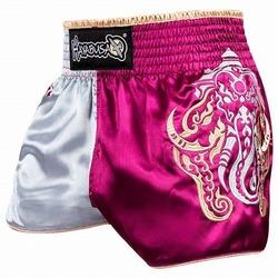 Elephant Muay Thai Shorts pink silver1