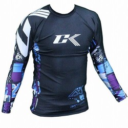 Collage Performance Rash Guard blue 1