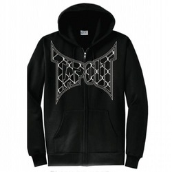 Caged Zip Hood BK1