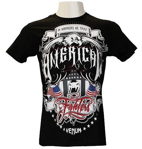 VENUM Tシャツ Amerian Fighters 黒
