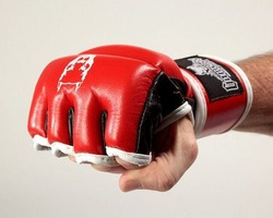 Red Line Thumb Lock MMA Gloves 2