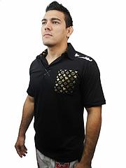 Bull Terrier ポロシャツ ゴールドモデル 黒