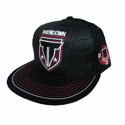 Throwdown Grind Snapback Hat BK1